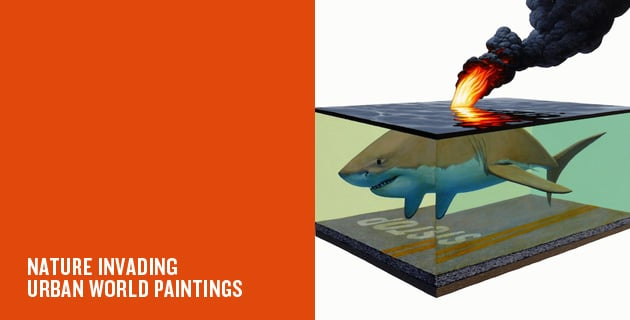 Animals painted in urban world | JOsh Keyes