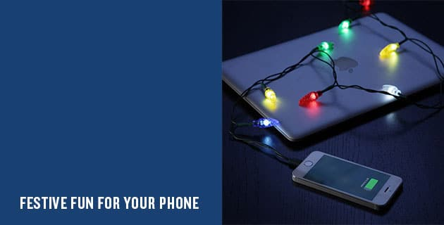 Festive iPhone Charger | Think Geek