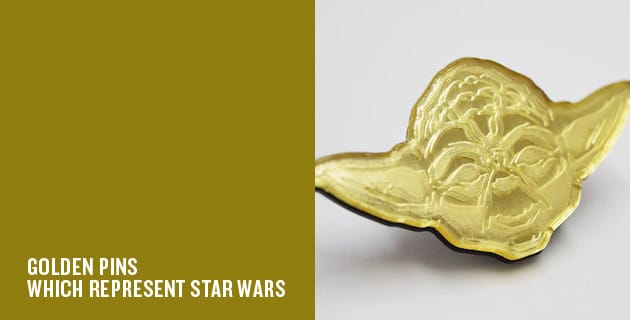 Star wars trilogy golden pins | Wood Fire