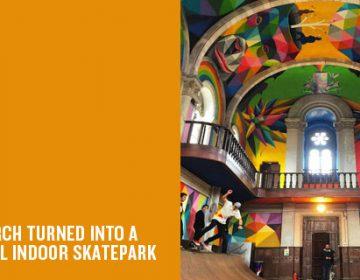 La Iglesia Skate |  Okuda San Miguel