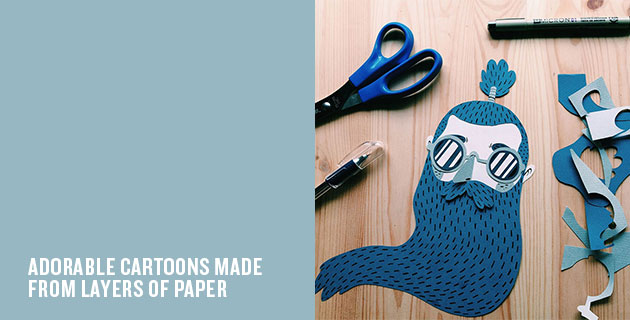Layered Paper Illustrations | Jotaka