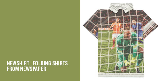 NEWSHIRT | Folding Shirts from Newspaper