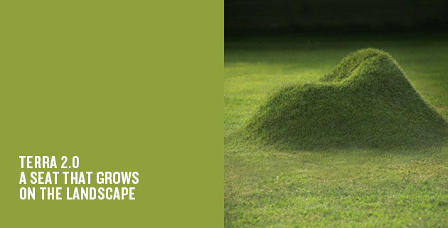 Terra 2.0 a seat that grows on the landscape
