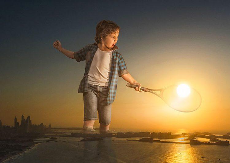 Dad Photoshops His Son Around The World