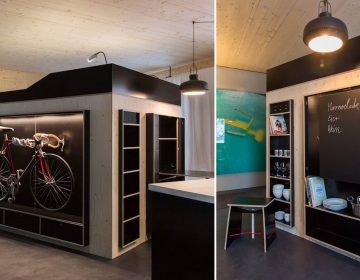 Space Saving Living Cube for micro apartments