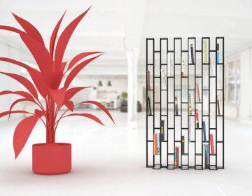 Bricks Standing Shelf | iconic metal wireframe