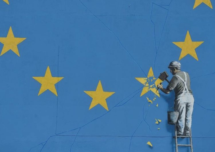 Banksy Unveils EU Flag Mural vs Brexit