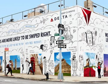 Delta Painted Exotic Locales on a Brooklyn Wall