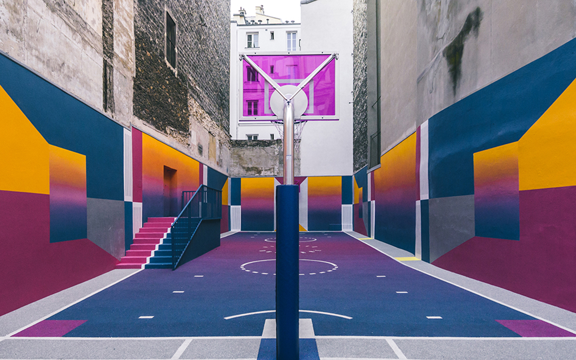 Pigalle Basketball Court And Ill Studio Feel Desain Your Daily