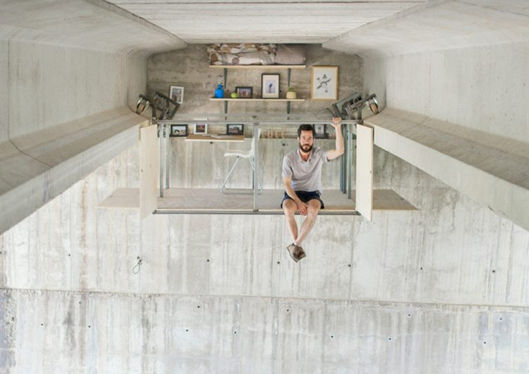 Fernando Abellanas | A secret studio suspended below an highway overpass