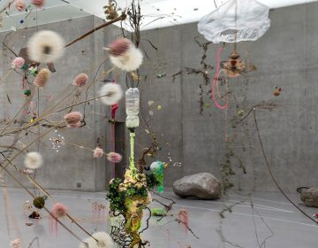Fantastical gardens invading the space