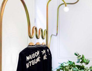 Mathieu Lehanneur and his metal pipes for Maison Kitsuné