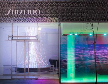 Neuroscience-inspired installations at the Shiseido Ginza building