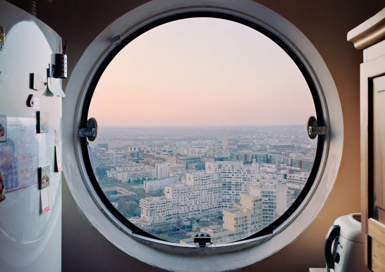 """Les Yeux des Tours"" is a porthole windows photography series"