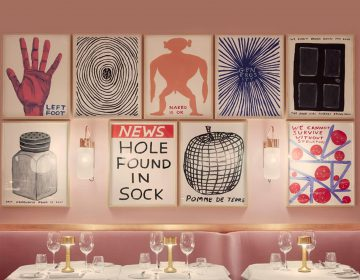 David Shrigley covers the walls of Sketch with 91 colourful new works