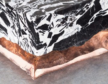 Marble and metal meet in the InHale collection