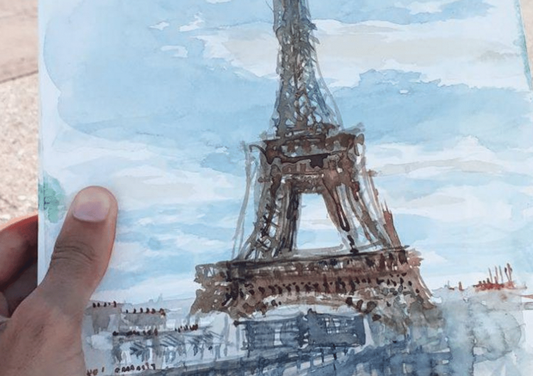 Streets Of Paris In Expressive Watercolor Illustrations