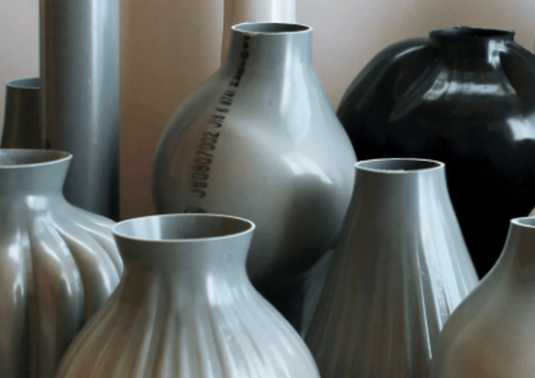 Plastic Pipes Transformed Into Hand Blown Vases