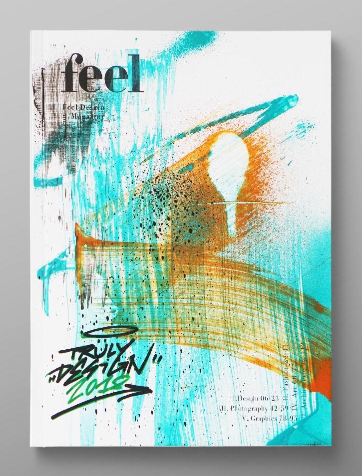 turin feel magazine custom cover truly design
