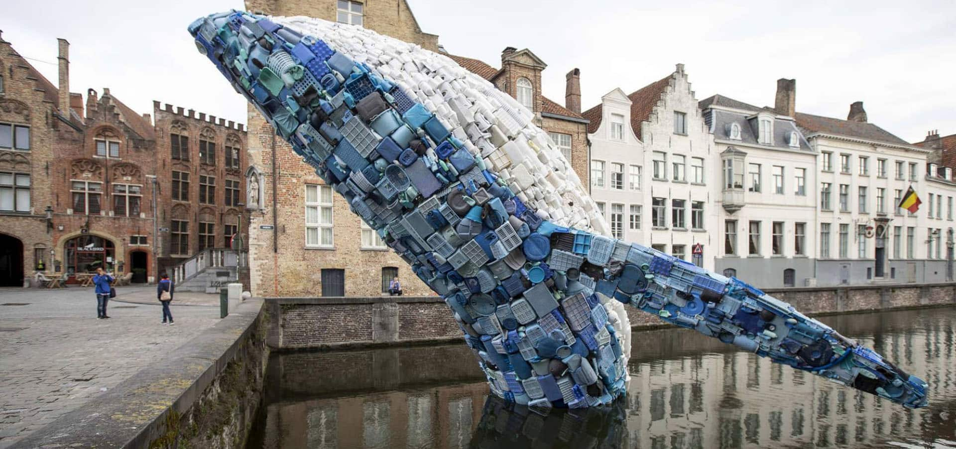 Whale Made From Plastic Waste In Bruges Triennale
