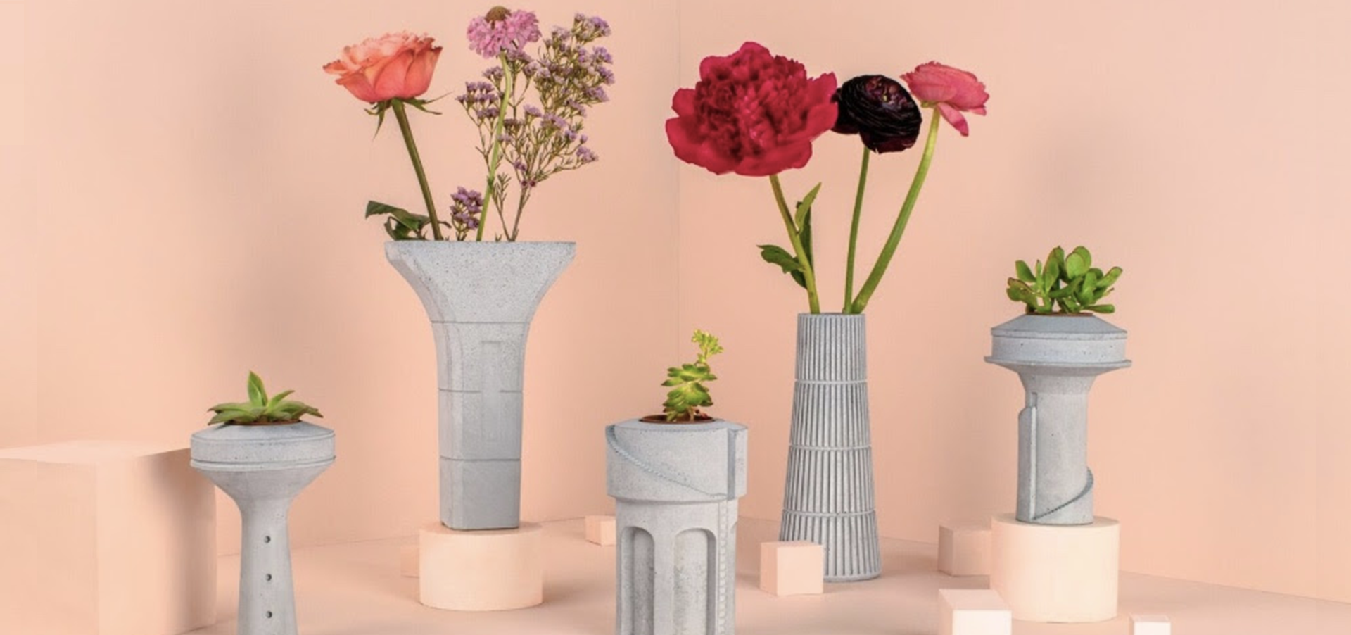 Planters And Vases Inspired By Urban Architecture
