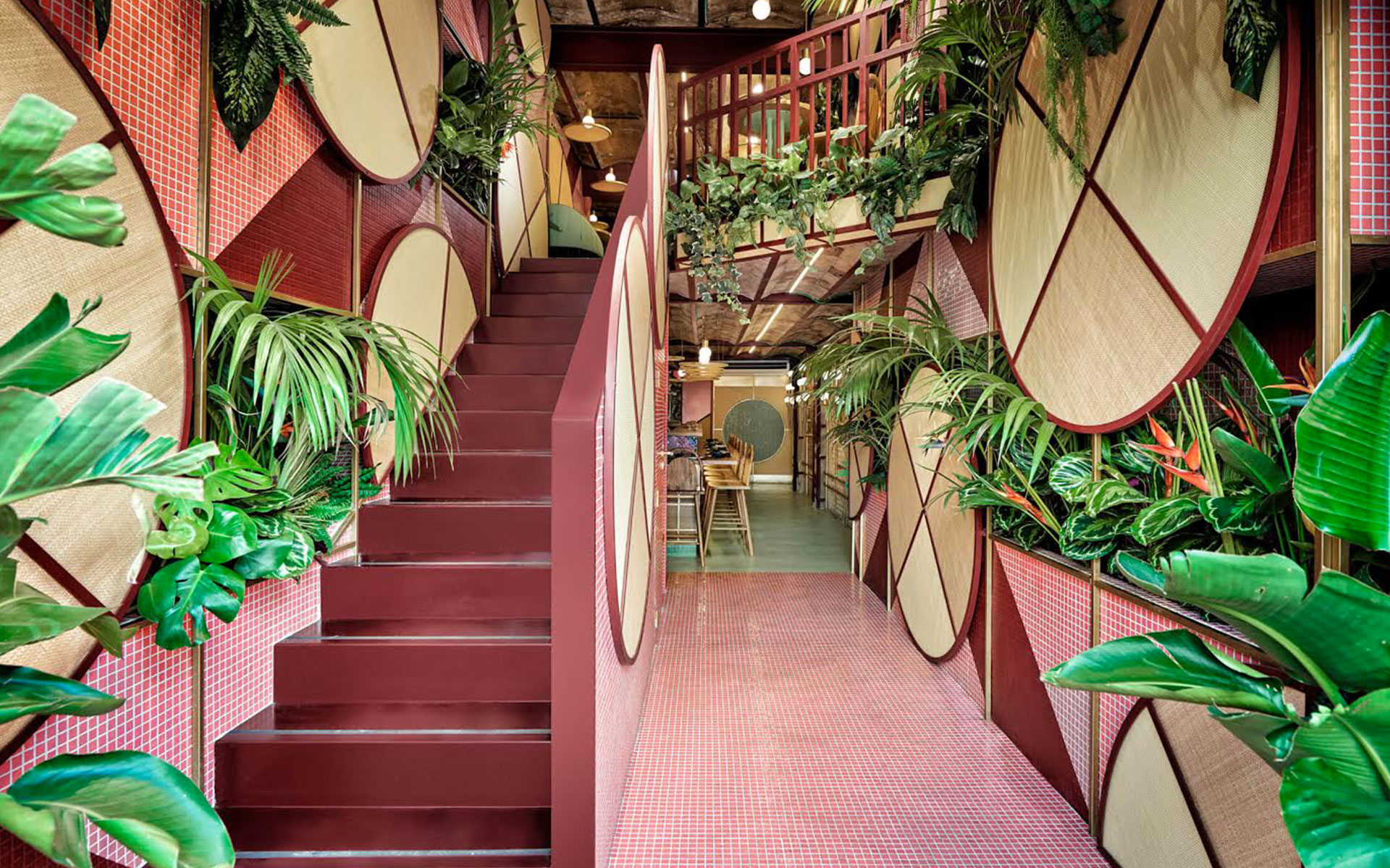 A Spanish tropical sushi restaurant designed by Masquespacio