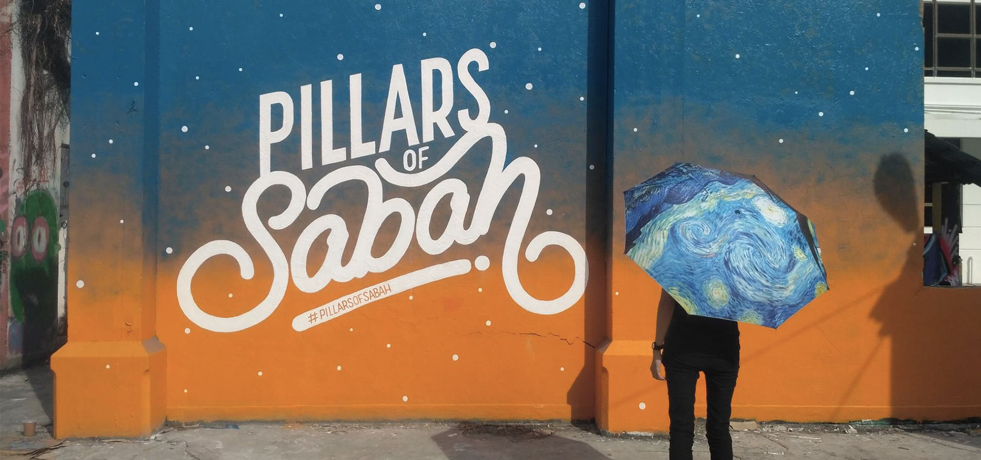 "Mural Art Project Called ""Pillars Of Sabah"""
