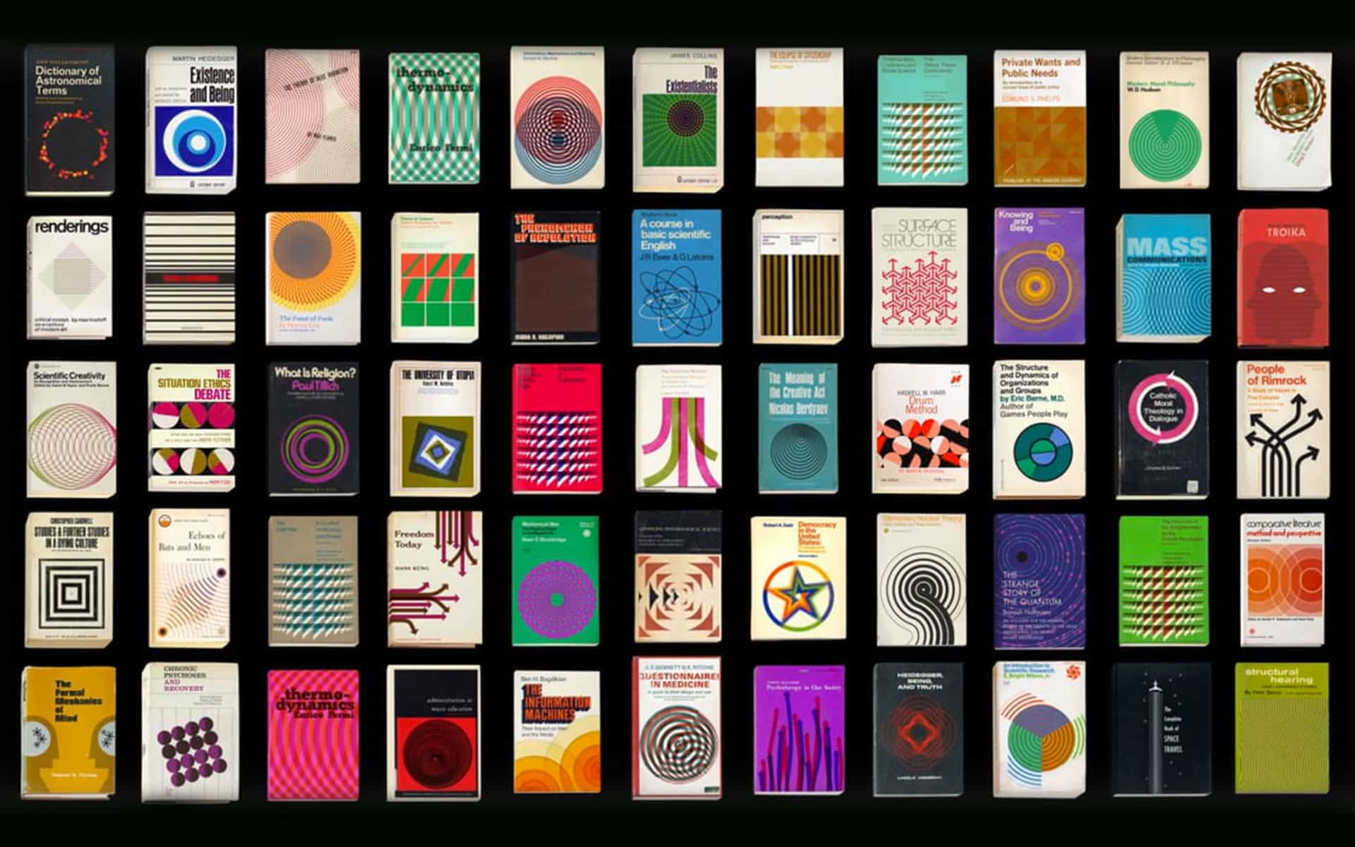 A series of 66 animated vintage book graphics