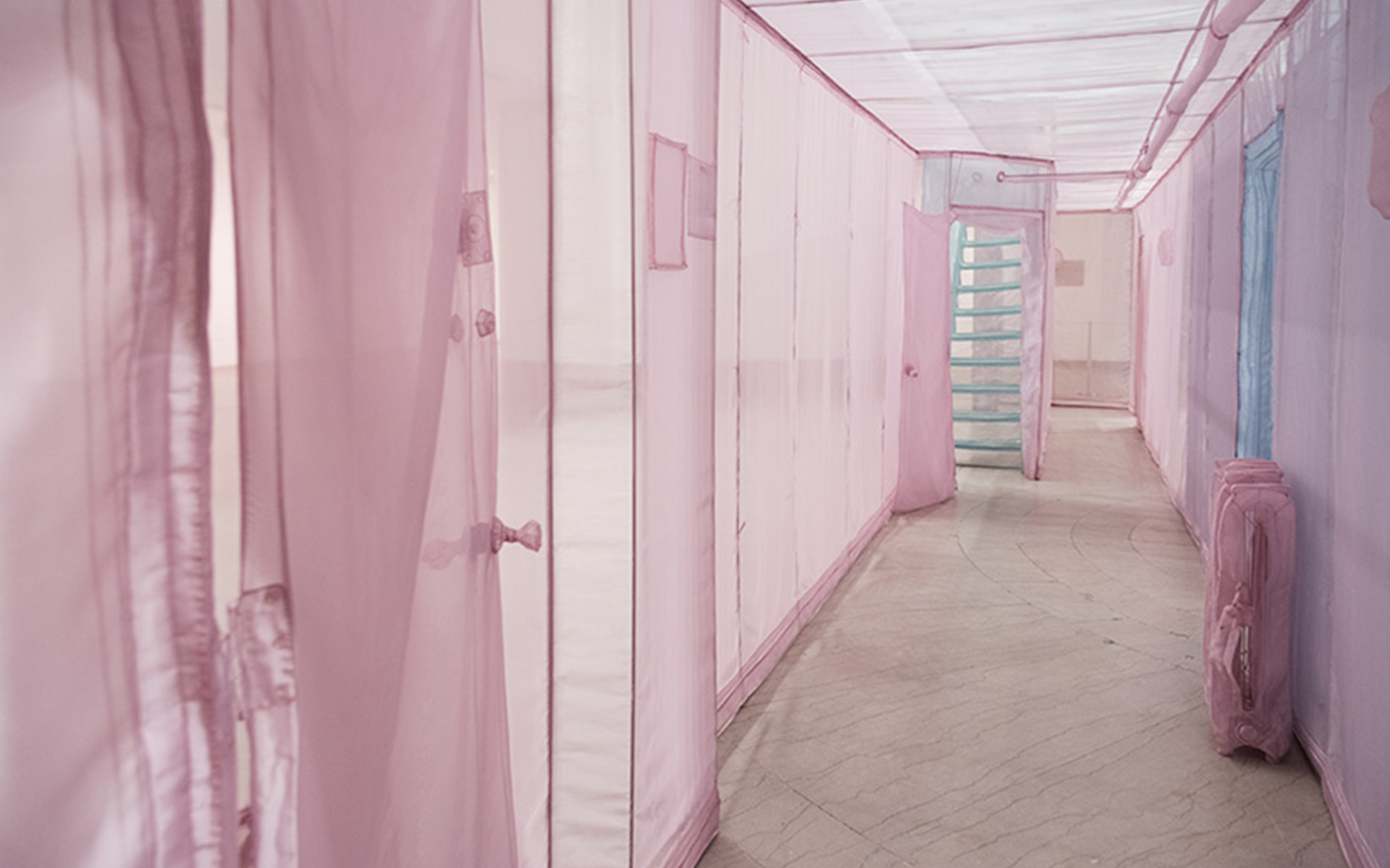 A full-scale fabric replica of Do Ho Suh's New York apartment