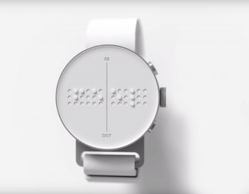 Dot is the first Braille smartwach with a moving keyboard