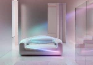 Holo-Scandinavian, An Iridescent Twist On Mid-Century Furniture Design