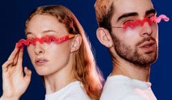 Bentel Brothers created a pair of glasses that squiggle your…