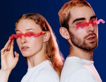 Bentel Brothers created a pair of glasses that squiggle your face