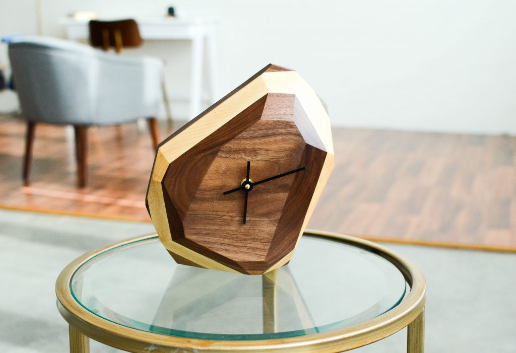 Modern Geometric Wall Clock By The Iron Roots Designs Feel Desain Your Daily Dose Of Creativity