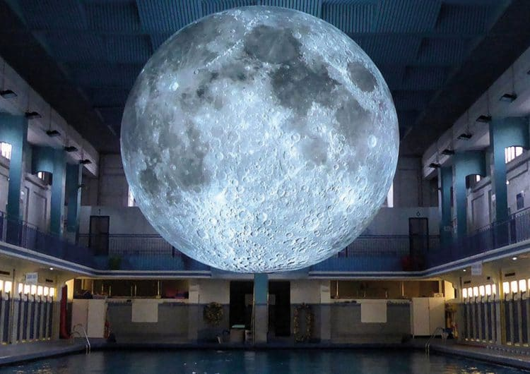 Luke Jerram's installation, Museum of the Moon, is now in Milan