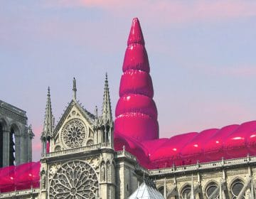 A Giant Inflatable Balloon For Notre Dame By Shepherd Studio