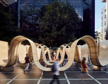 Paul Cocksedge Invites Pedestrians To Seat On Concentric Benches At London Design Week