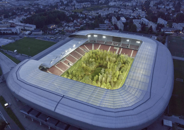 Native Central European Forest In A Football Stadium By Klaus Littmann