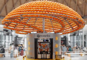 Circular Juice Bar Turns Leftover Orange Peel Into Bioplastic Cups