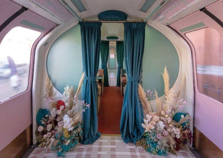 A candy-coloured restyle for a London Underground carriage