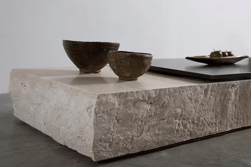 rock coffee table by aajih & omar nakkash