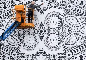 "NeSpoon ""crochet"" street art"