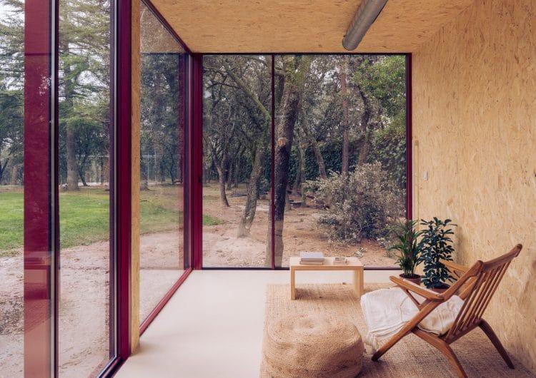Delavegacanolasso creates prefabricated Tini home-office cabin
