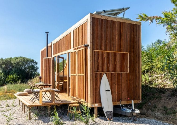 Woodworking studio madeiguincho realizes off-grid 'ursa,' the tiny house on wheels