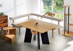 This Cat Table Gives Your Feline a Seat in the Table
